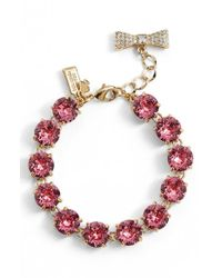 kate spade new york | Pink 'fancy That' Line Bracelet | Lyst