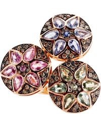 Ileana Makri | Metallic Deco Triple Flower Ring | Lyst