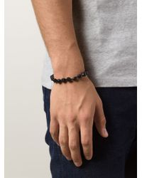 Joseph Brooks | Black Spinel Beaded Bracelet for Men | Lyst