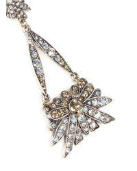 Lulu Frost - Metallic 'larkspur' Floral Crystal Pavé Drop Earrings - Lyst