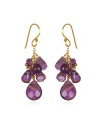 Wendy Mink | Purple Amethyst Cluster Drop Earrings | Lyst