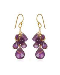Wendy Mink | Metallic Amethyst Cluster Drop Earrings | Lyst