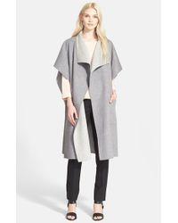 Tibi - Gray Reversible Wool & Angora Coat - Lyst