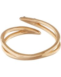 Kismet by Milka - Rose Gold Lumiere Pinky Ring With Black Diamonds - Lyst