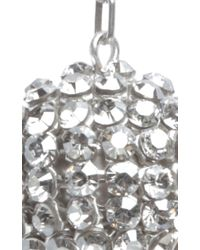 Isabel Marant - Metallic Silver Crystal Embellished Ball Drop Earrings - Lyst