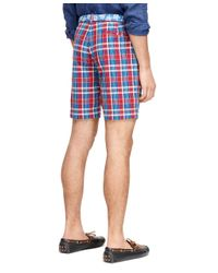 Brooks Brothers - Blue Madras Shorts for Men - Lyst