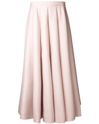 Valentino - Pink Long Pleated Skirt - Lyst