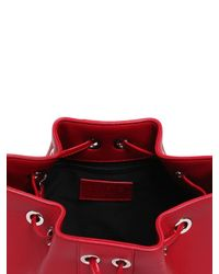 Versus - Red Studded Leather Bucket Bag - Lyst