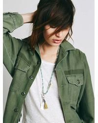 Free People | Blue Womens Coastal Bead Pendant | Lyst