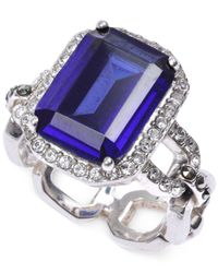 Judith Jack | Blue Crystal (2/5 Ct. T.W.) And Marcasite (3/20 Ct. T.W.) Ring | Lyst