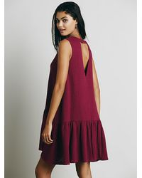 Free People | Purple Womens Turn It On Knit Dress | Lyst
