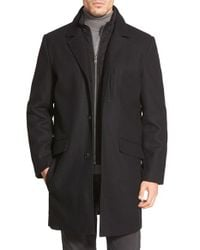 Andrew Marc | Black Marc New York By 'hunt' Wool Blend Topcoat for Men | Lyst