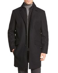 Andrew Marc - Black Marc New York By 'hunt' Wool Blend Topcoat for Men - Lyst