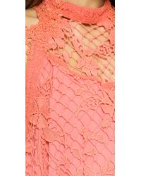 Free People - Pink Snowdrop Lace Trapeze Dress - Softshell Combo - Lyst