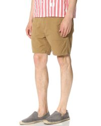 Bedwin And The Heartbreakers | Natural Marcy Military Baker Shorts for Men | Lyst