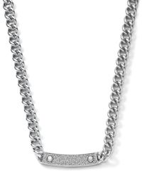 Michael Kors | Metallic Pave-bar Chain-link Necklace | Lyst