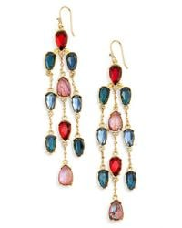 Lauren by Ralph Lauren - Multicolor Crystal Chandelier Earrings - Lyst