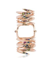 Katie Rowland | Metallic Carmilla Venom Wrap 18 Ct Knuckle Ring | Lyst