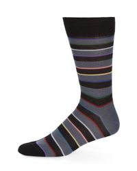 Paul Smith | Black Rainbow Block Striped Socks for Men | Lyst