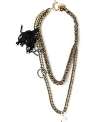 Lanvin | Metallic Double Chain Opera Necklace | Lyst