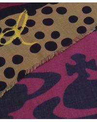 Vivienne Westwood | Purple Abstract Multi Print Scarf | Lyst