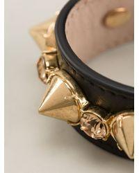 Alexander McQueen - Black Leather Cuff Bracelet - Lyst