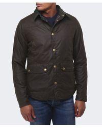 Barbour   Green Reelin Wax Jacket for Men   Lyst