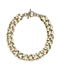 Michael Kors | Metallic Goldtone Curb Chain Necklace | Lyst