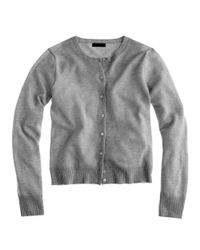 J.Crew | Gray Collection Cashmere Cardigan Sweater | Lyst