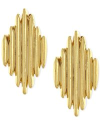 Vince Camuto - Metallic Gold-tone Spiky Stud Earrings - Lyst