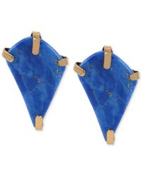 Robert Lee Morris | Bronze-tone Semi-precious Blue Bead Geometric Stud Earrings | Lyst