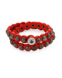DSquared² - Red Suede Armlet Bracelet for Men - Lyst