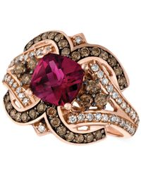 Le Vian | Red Raspberry Rholodite Garnet (1-3/4 Ct. T.w.) And Diamond (1/2 Ct. T.w.) Ring In 14k Rose Gold | Lyst