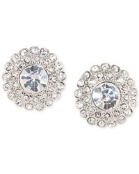 Carolee | Metallic Silver-tone Crystal Sunburst Stud Earrings | Lyst