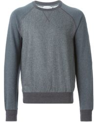 Moncler - Gray Two-tone Sweatshirt for Men - Lyst