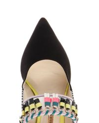 Sophia Webster - Black Samia Leather And Suede Mules - Lyst