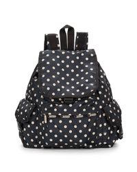 LeSportsac - Black Voyager Polka Dot Backpack - Lyst