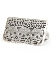 Pamela Love | Metallic Day Of The Dead Double Finger Ring | Lyst