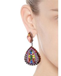 Erickson Beamon | Multicolor 'kumbaya' Crystal Bead Drop Earrings | Lyst