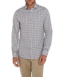 Michael Kors - Purple Slim Fit Long Sleeve Check Shirt for Men - Lyst