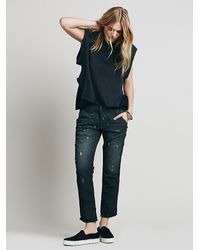 Free People | Blue Nsf Womens Edith Washed Pant | Lyst