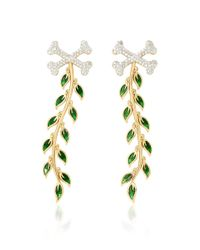 Alison Lou - Metallic Poison Ivy Earrings - Lyst