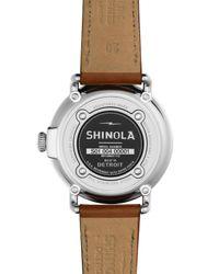 Shinola - Brown 41mm Runwell Moon Phase Watch for Men - Lyst