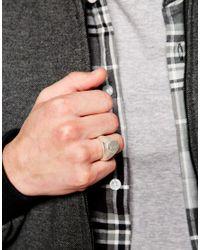 Cheap Monday - Metallic Plate Ring for Men - Lyst