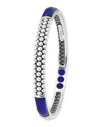 Lagos | Metallic Maya Silver Lapis Bangle Bracelet | Lyst