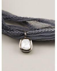 Christian Koban   Gray 'slice' Diamond Necklace   Lyst