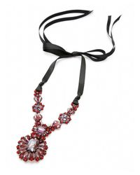 Nakamol | Multicolor Bernadette Crystal Necklace-garnet | Lyst