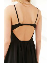 Silence + Noise | Black Noir Strappy-back Mini Dress | Lyst