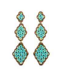 Suzanna Dai | Blue Fes Drop Earrings, Gold/turquoise | Lyst