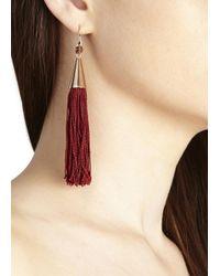Eddie Borgo | Red Rose Gold Tone Silk Tassle Earrings | Lyst